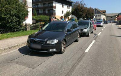 Aufräumarbeiten Verkehrsunfall