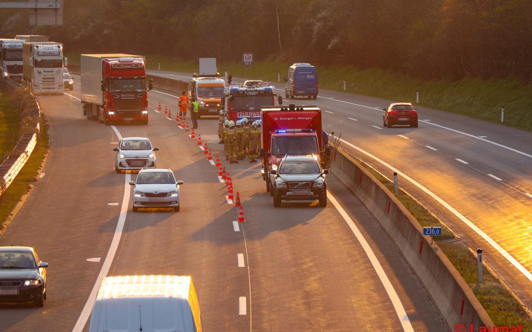Verkehrsunfall Westautobahn